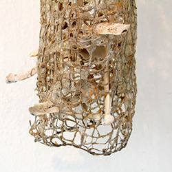 4.	Baskets4life Dimensions. Bones. Close-up. Knitted linen, bones from seals and bone glue: Anne Honoré