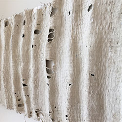 Baskets4life Dimensions. Lines in the sand. Woven linen with paper clay: Anne Honoré